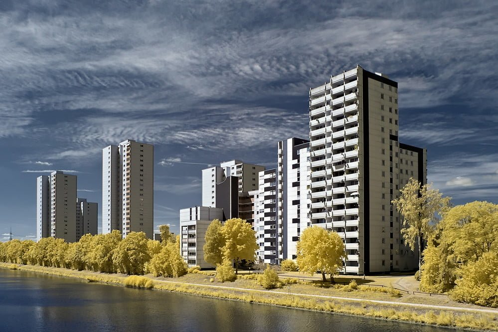 tower block buildings