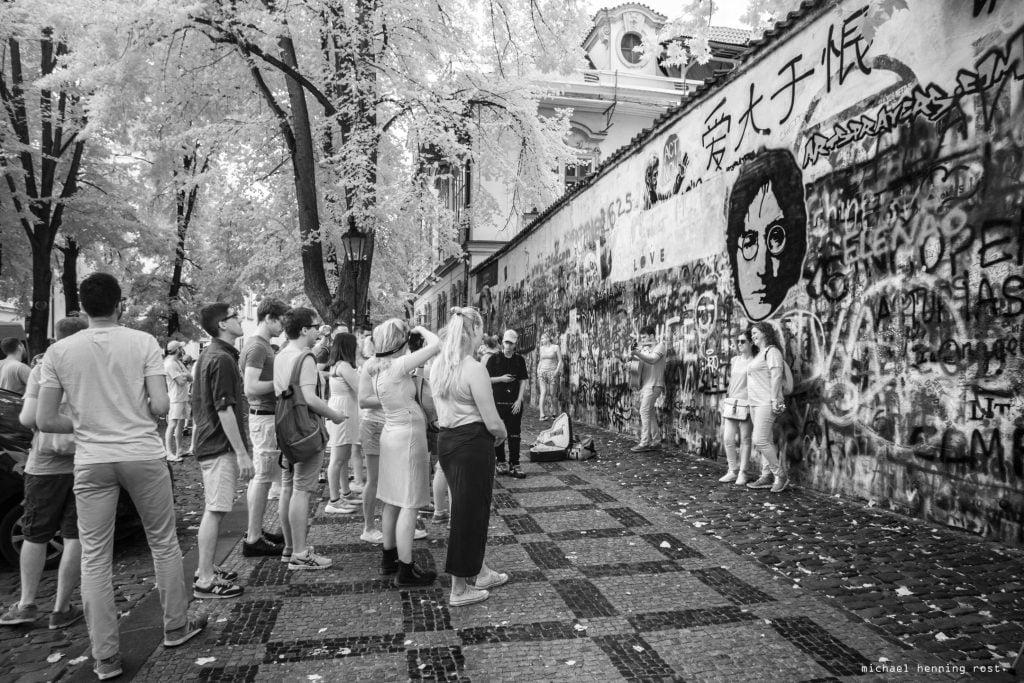 Prag - John Lennon Wall von Michael Henning Rost