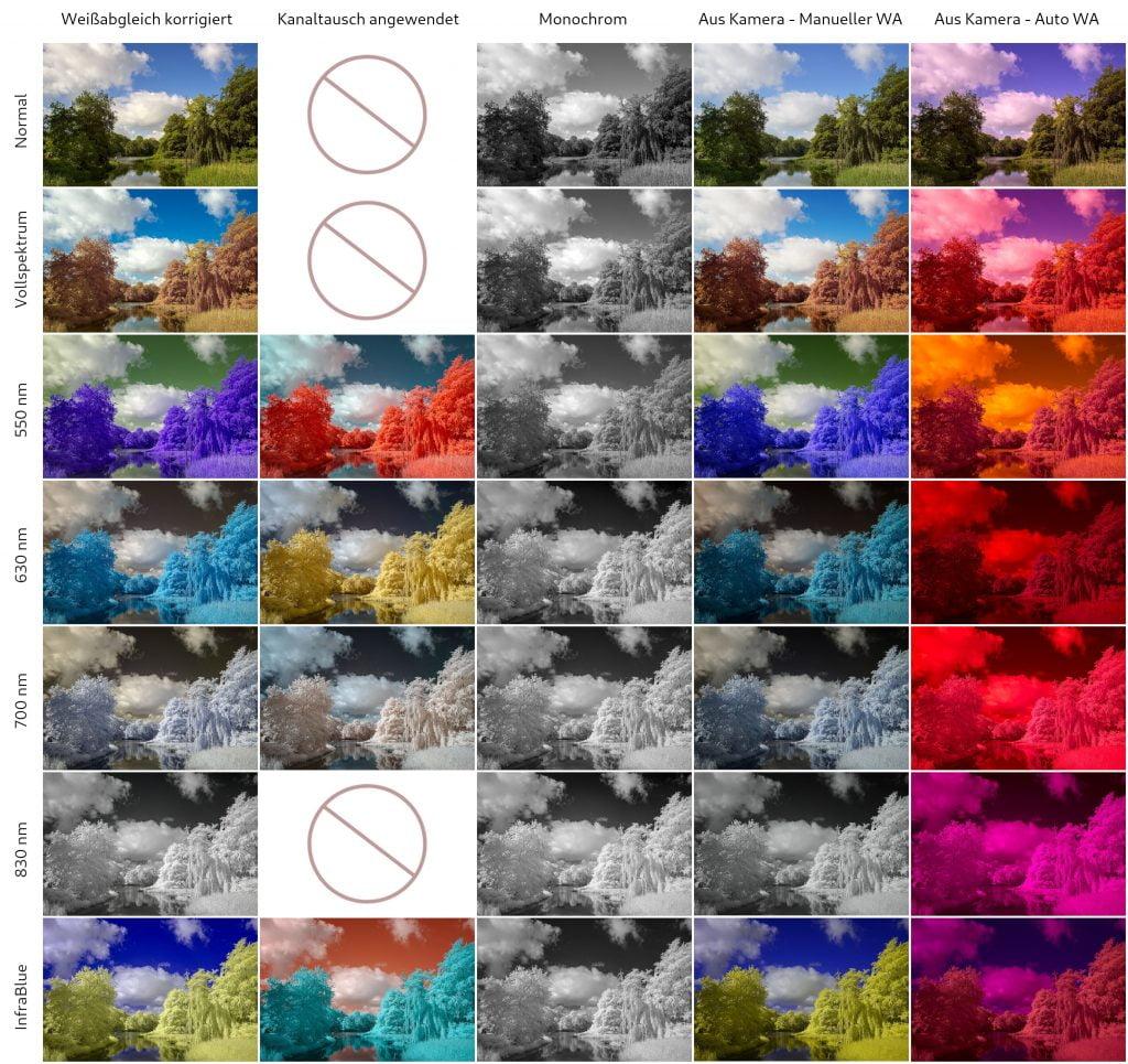 Infrarot Effekt Filter im Vergleich - Motiv 1